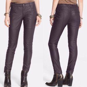 Free People Fig Vegan Leather Skinny Moto Pant 0
